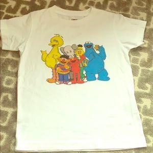 KAWS X Uniqlo Sesame Street t shirt